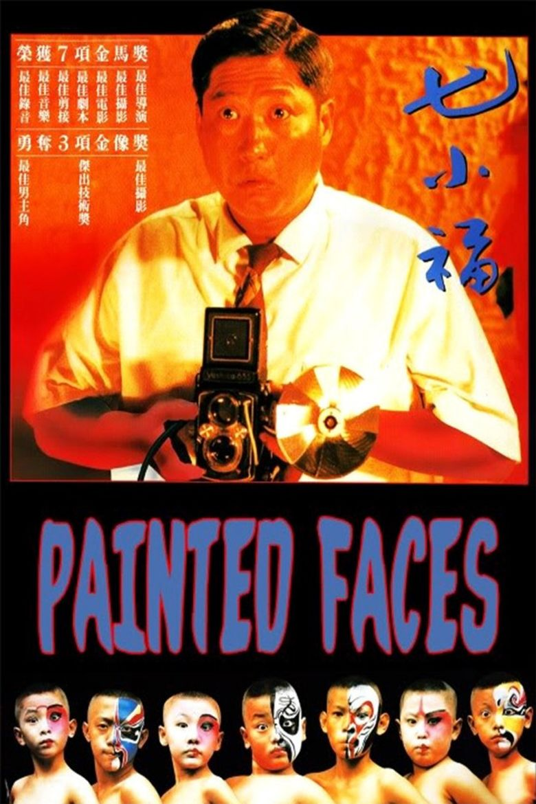 Painted Faces Poster