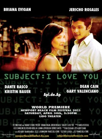 Subject: I Love You Poster