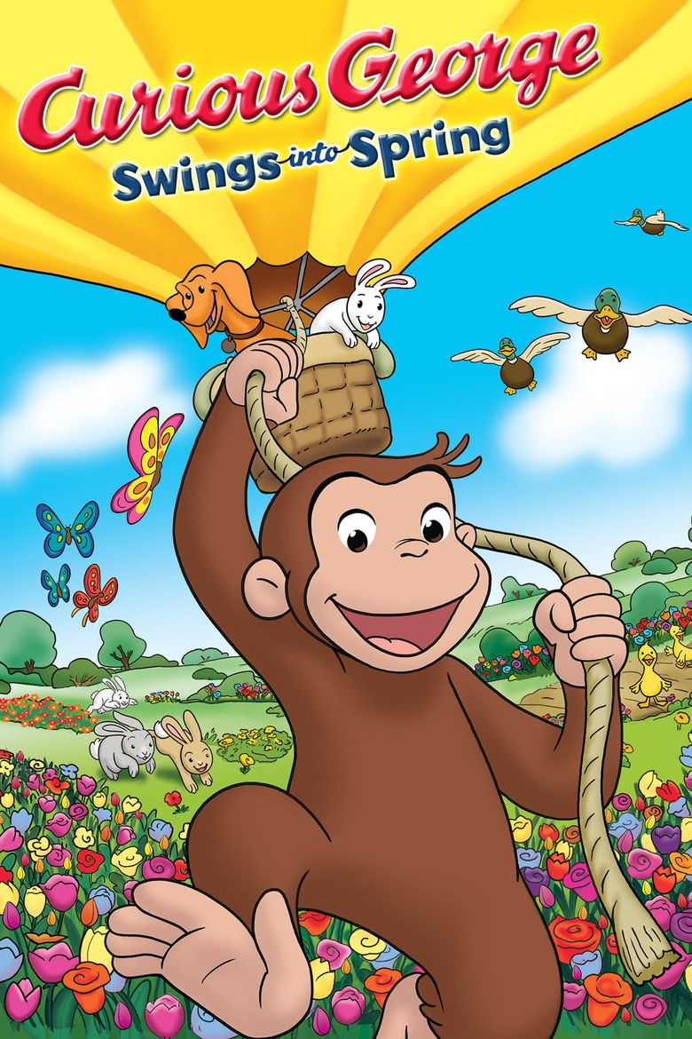 Curious George Swings Into Spring Poster