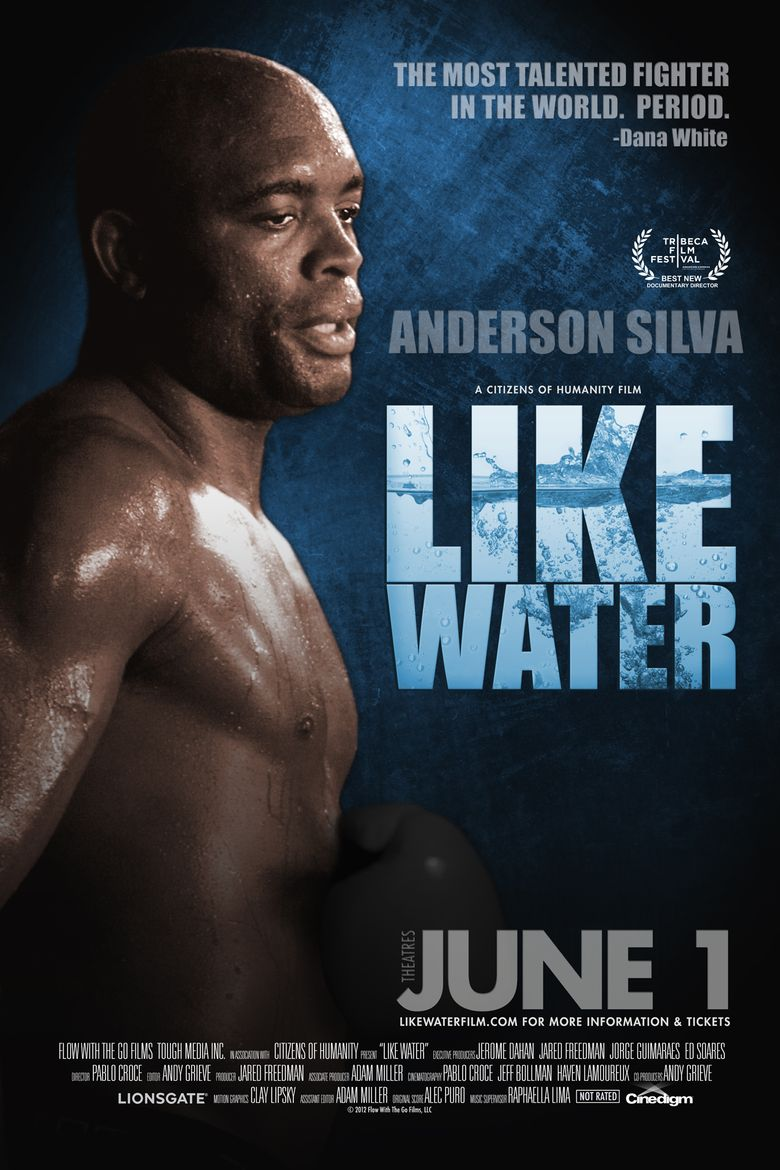 Anderson Silva: Like Water Poster