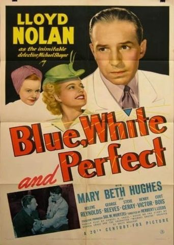Blue, White, and Perfect Poster