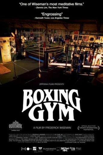 Boxing Gym Poster