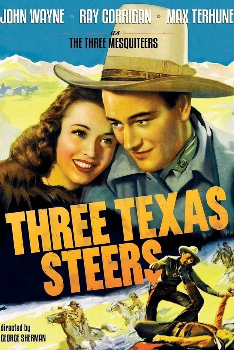 Three Texas Steers Poster