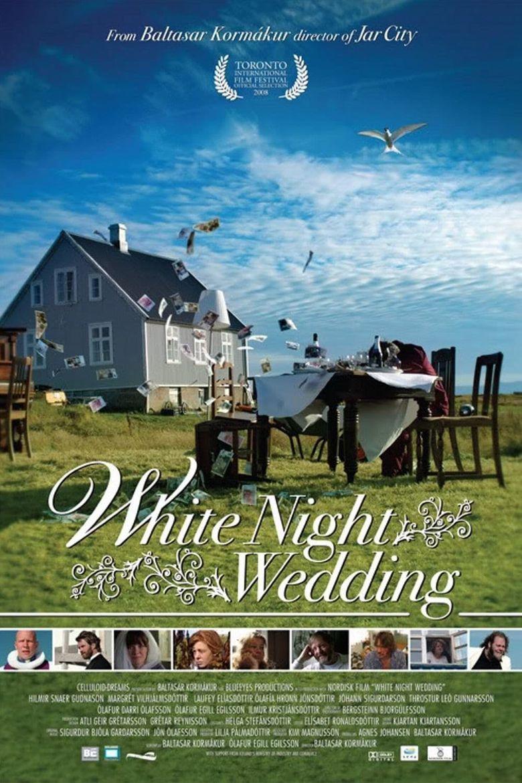 White Night Wedding Poster