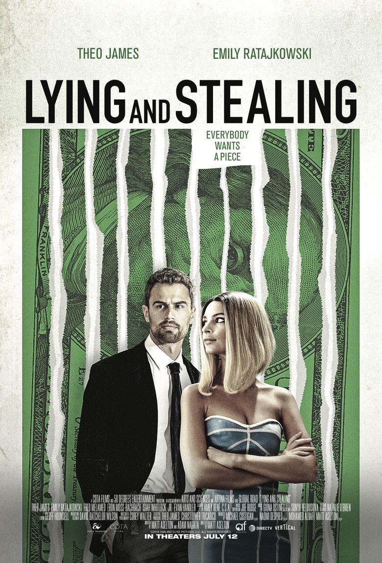 Lying and Stealing Poster
