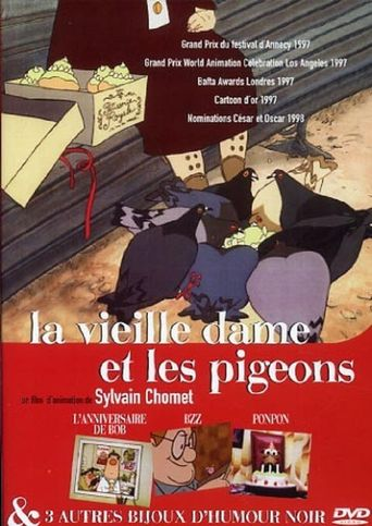 The Old Lady and the Pigeons Poster