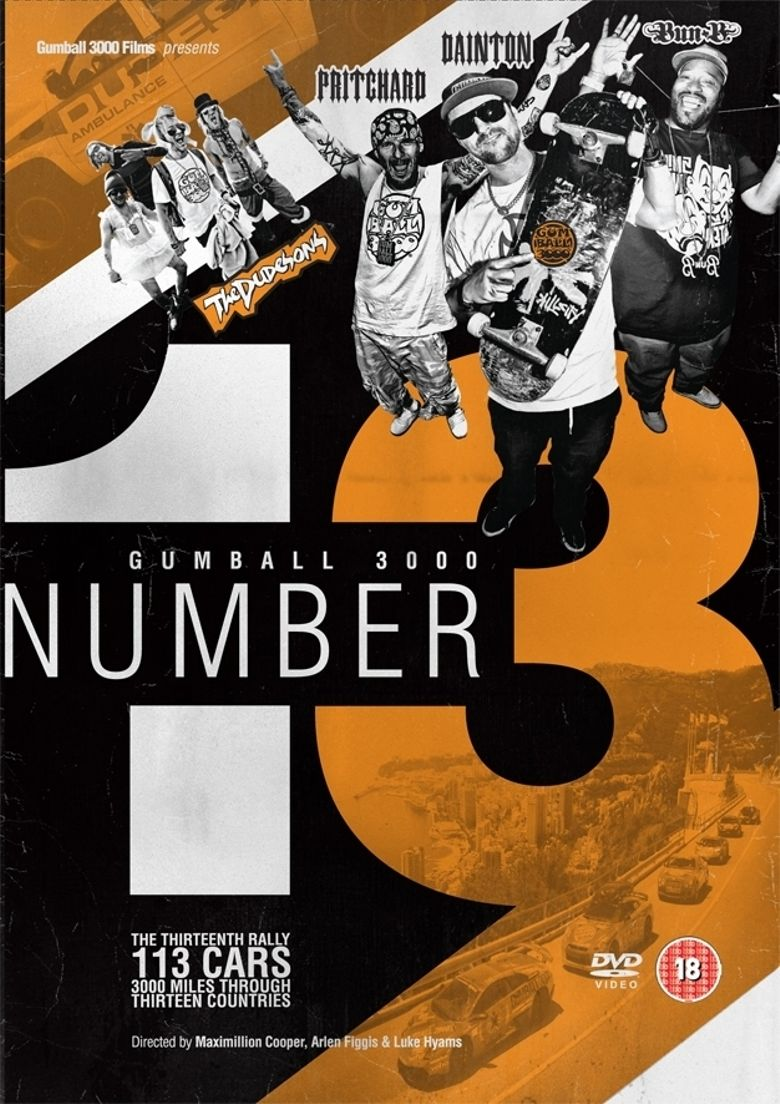 Gumball 3000: Number 13 Poster