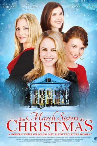 The March Sisters at Christmas Poster