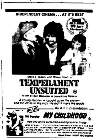 Temperament Unsuited Poster