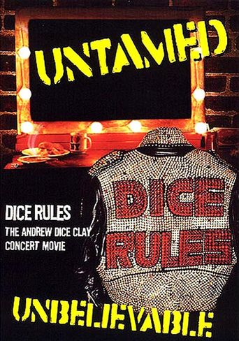 Andrew Dice Clay: Dice Rules Poster