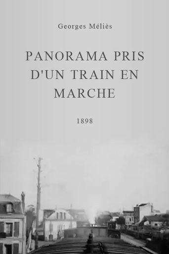Panorama pris d'un train en marche Poster