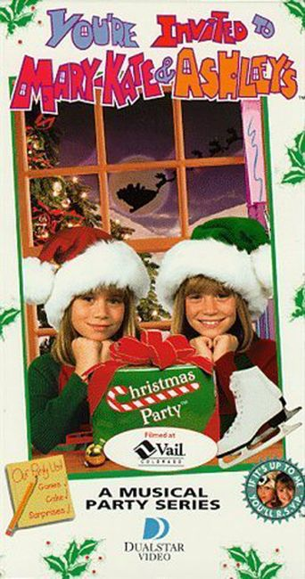 You're Invited to Mary-Kate & Ashley's Christmas Party Poster