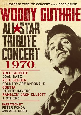 Woody Guthrie All-Star Tribute Concert 1970 Poster