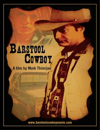 Barstool Cowboy Poster