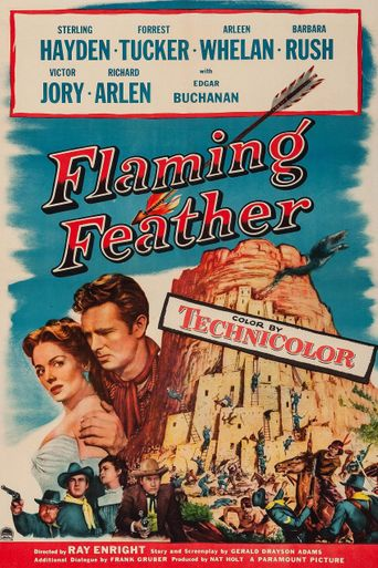 Flaming Feather Poster