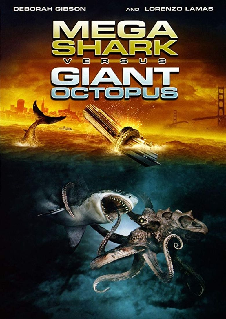 Mega Shark vs. Giant Octopus Poster