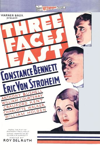 Three Faces East Poster