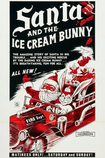 Santa and the Ice Cream Bunny Poster