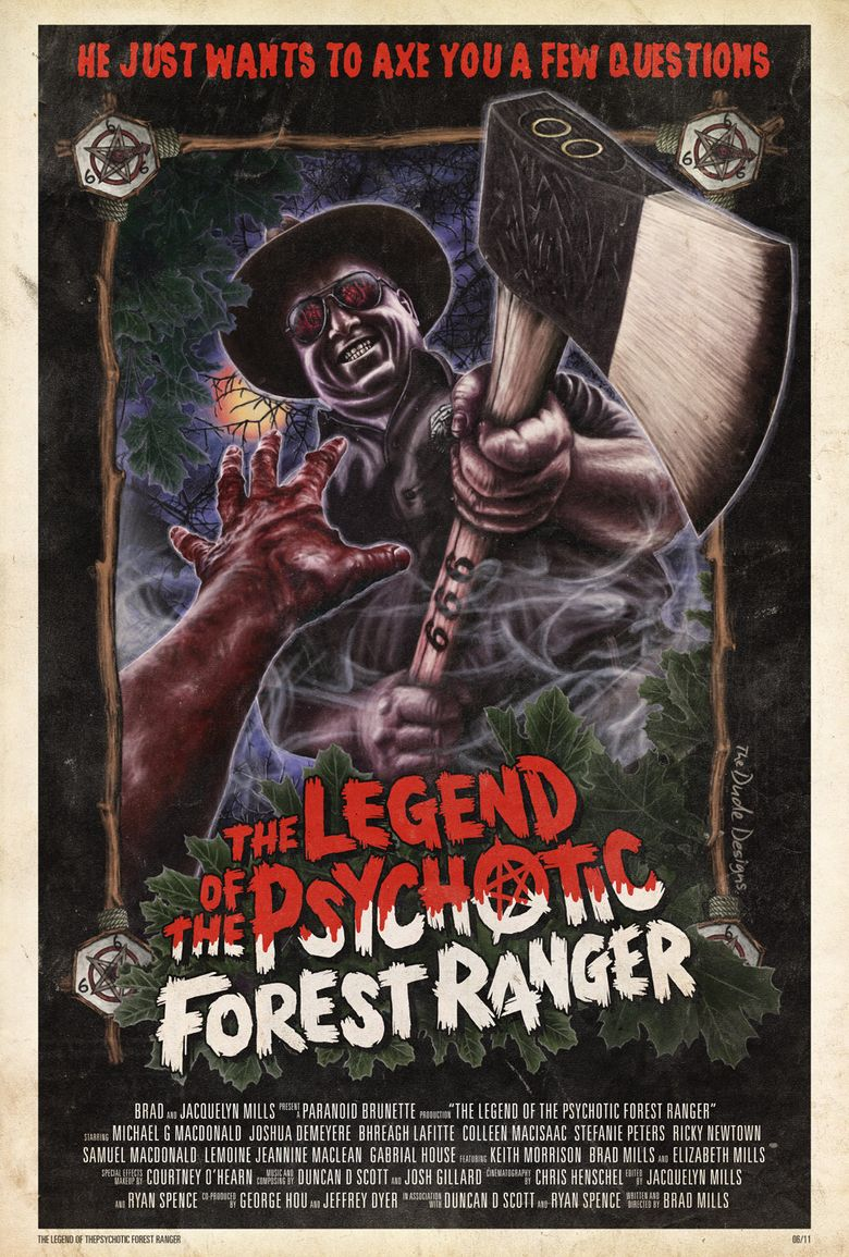 The Legend of the Psychotic Forest Ranger Poster