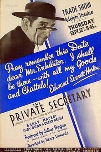 The Private Secretary Poster