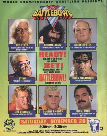 WCW Battle Bowl Poster