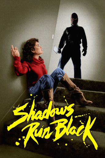 Shadows Run Black Poster