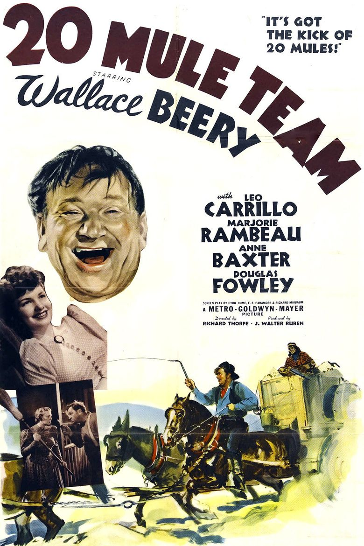 20 Mule Team Poster