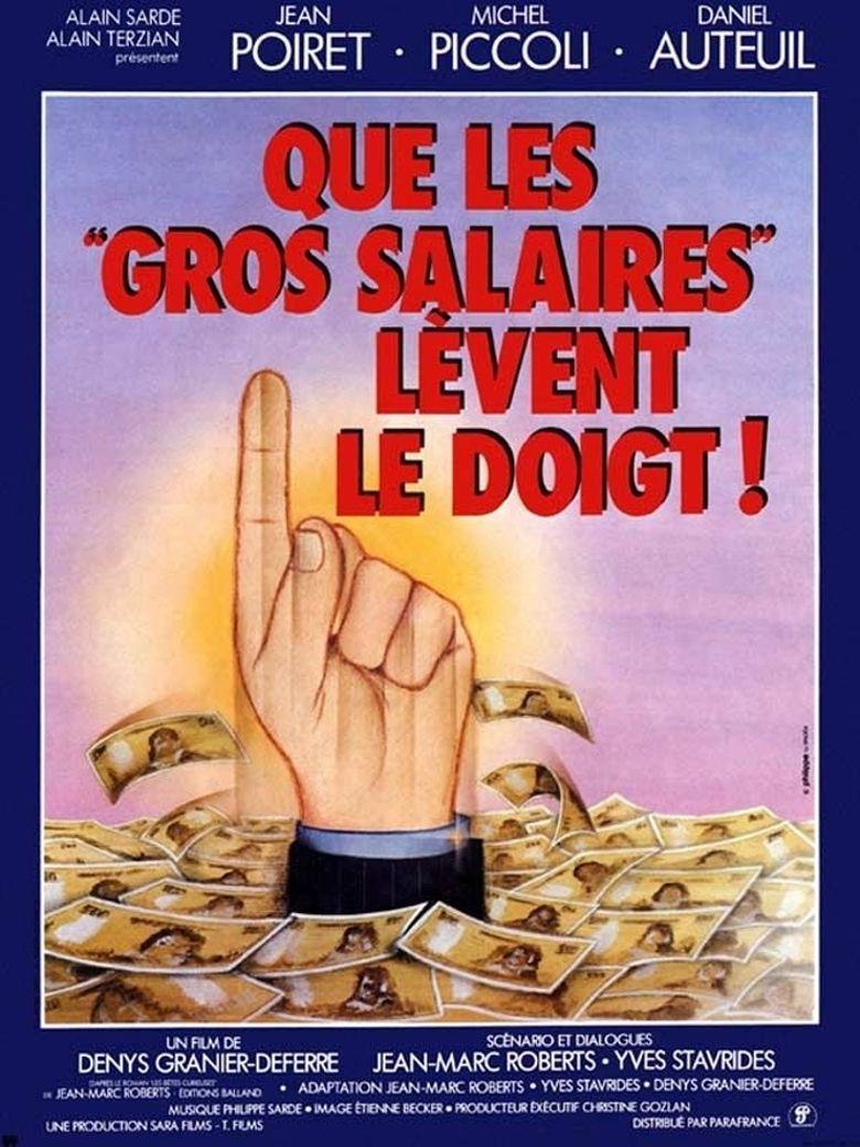 Que les gros salaires lèvent le doigt Poster