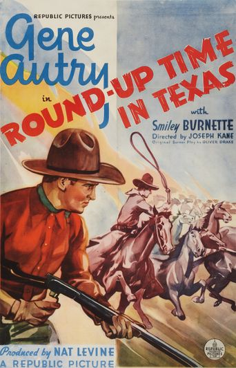 Round-Up Time in Texas Poster