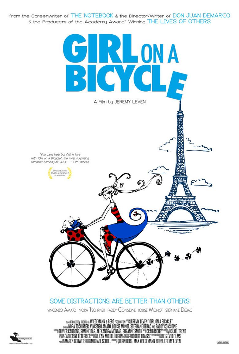 Girl on a Bicycle Poster