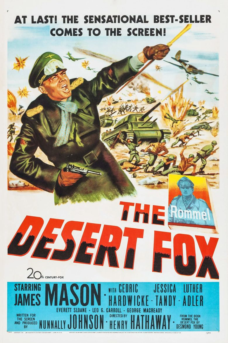 Image result for the desert fox poster