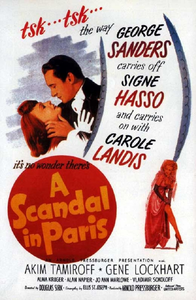 A Scandal in Paris Poster