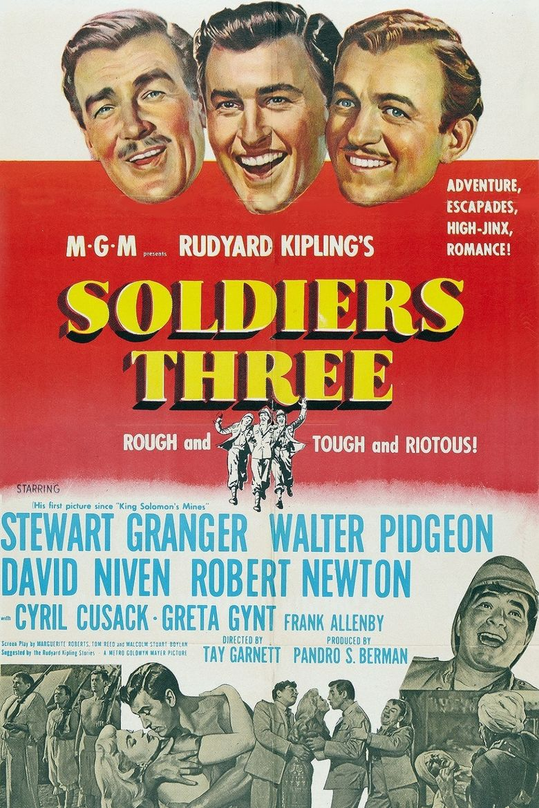 Soldiers Three Poster