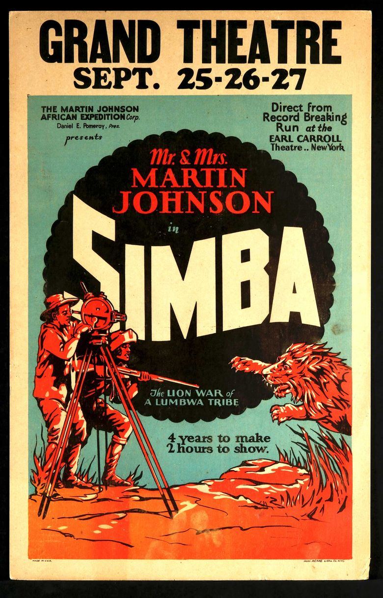 Simba: The King of the Beasts Poster