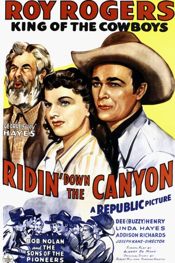 Ridin' Down the Canyon Poster