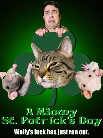 A Meowy St. Patrick's Day Poster