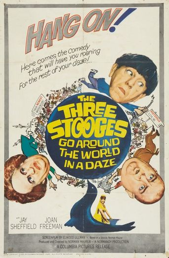The Three Stooges Go Around the World in a Daze Poster