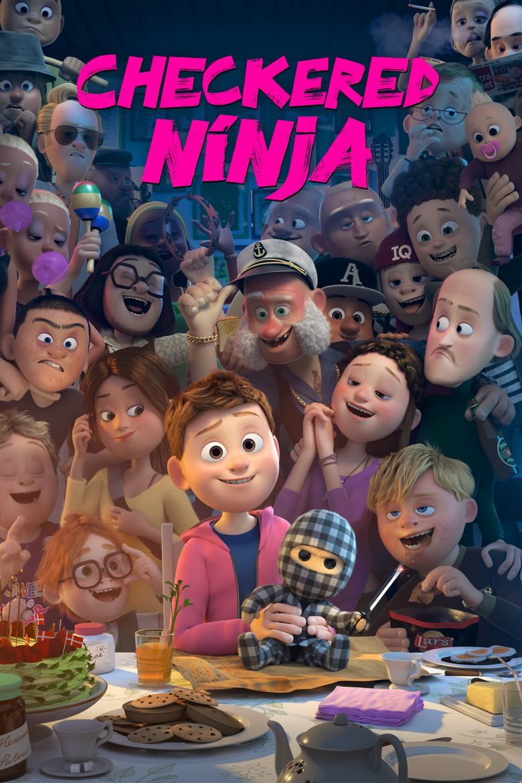 Checkered Ninja Poster