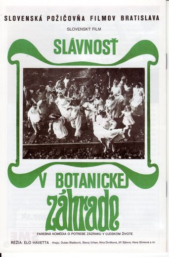Celebration in the Botanical Garden Poster