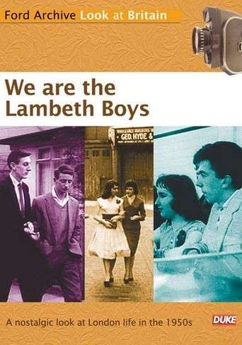 We Are the Lambeth Boys Poster