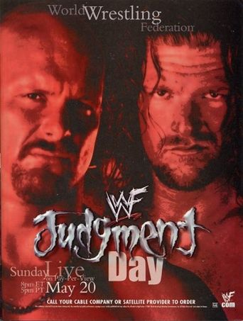 WWE Judgment Day 2001 Poster