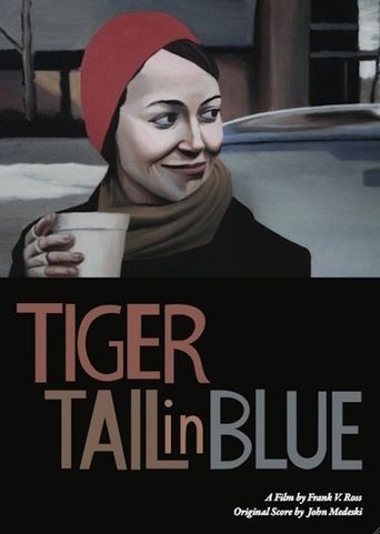 Tiger Tail in Blue Poster