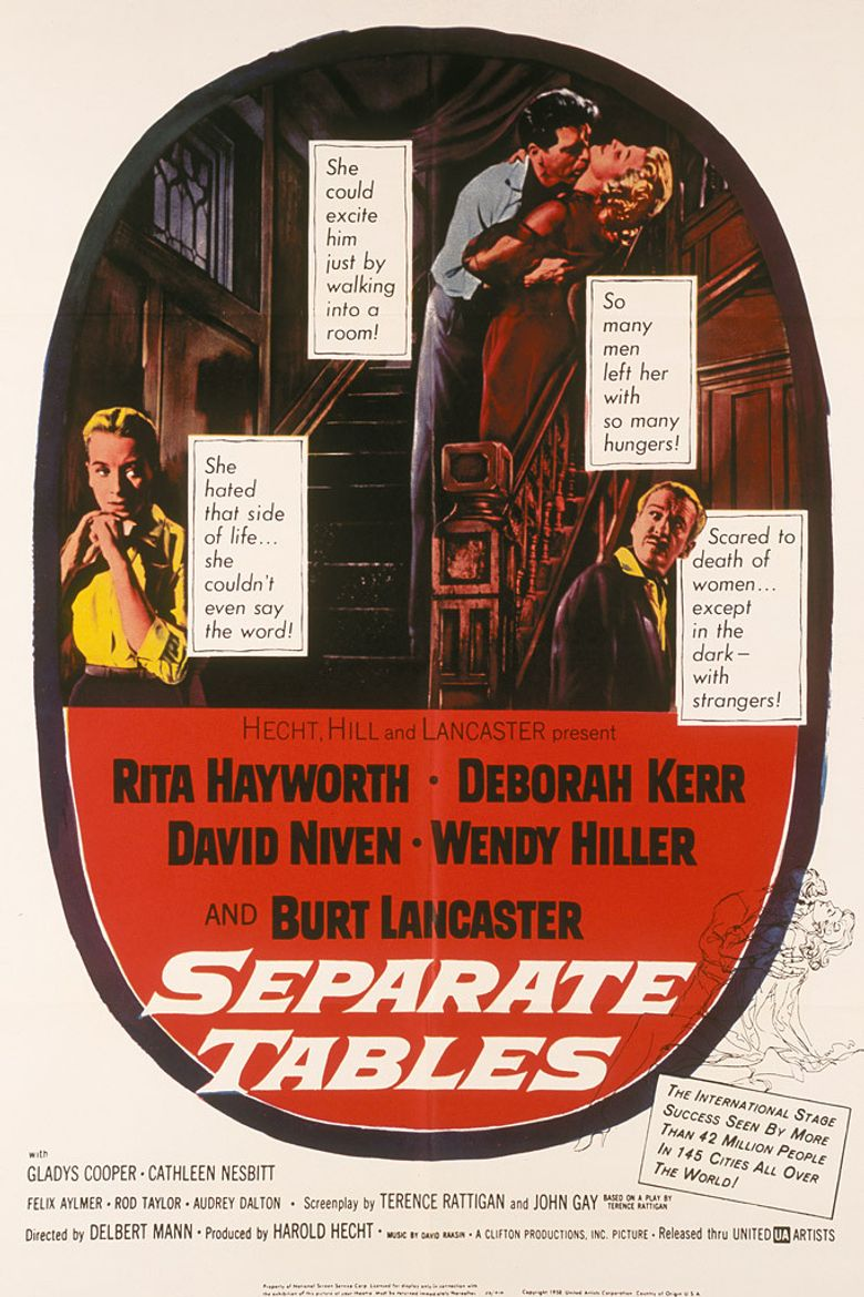 Separate Tables Poster