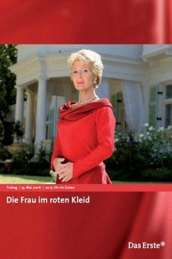 Die Frau im roten Kleid Poster