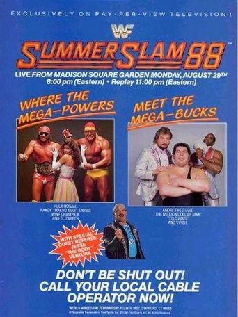 WWE SummerSlam 1988 Poster