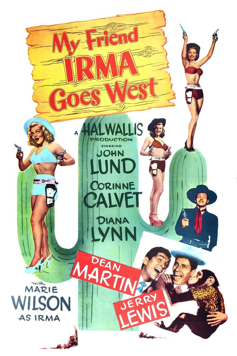 My Friend Irma Goes West Poster