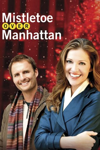 Mistletoe Over Manhattan Poster