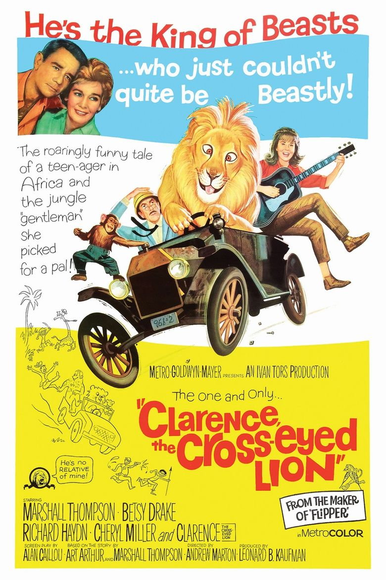 Clarence, the Cross-Eyed Lion Poster