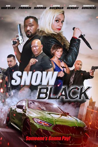 Snow Black Poster