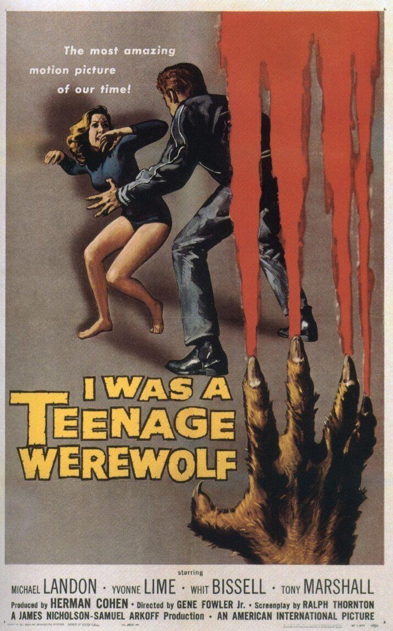I Was a Teenage Werewolf Poster